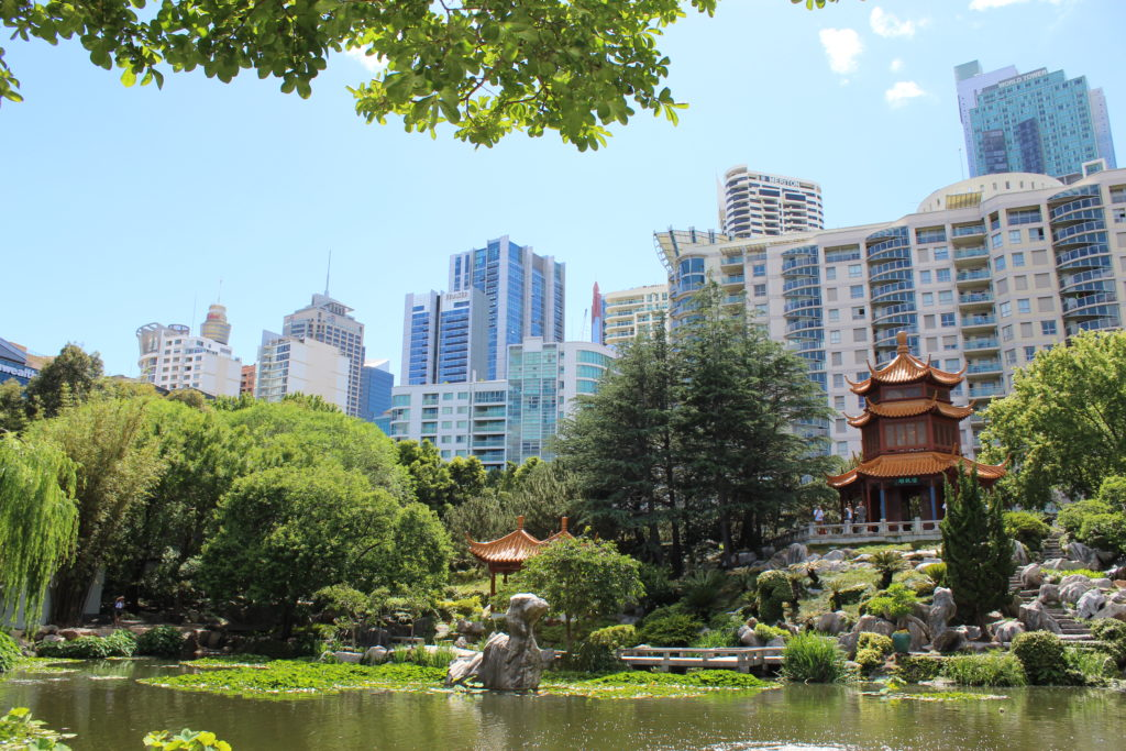 Ausblick auf den Garden of Friendship in Sydney
